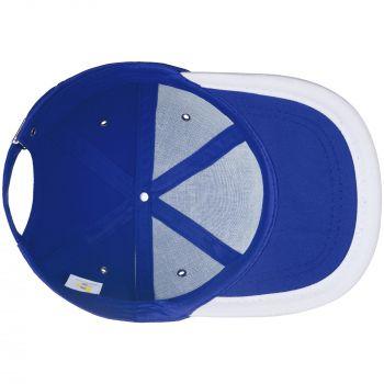 Бейсболка «Bizbolka Honor», ярко-синяя с белым, вид изнутри