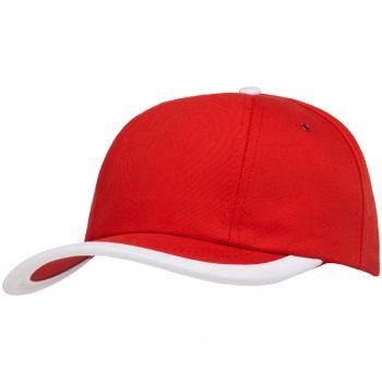 Бейсболка «Bizbolka Honor», красная с белым