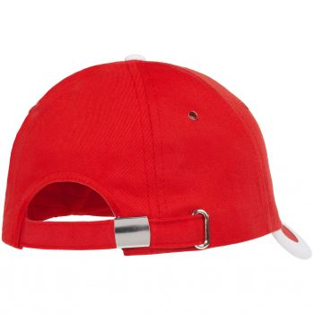Бейсболка «Bizbolka Honor», красная с белым, вид сзади