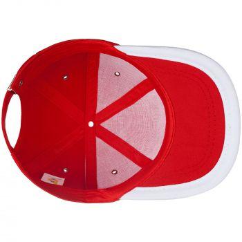Бейсболка «Bizbolka Honor», красная с белым, вид изнутри