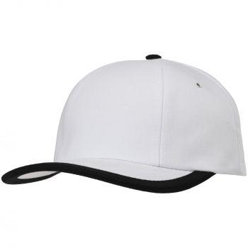 Бейсболка «Bizbolka Honor», белая с чёрным