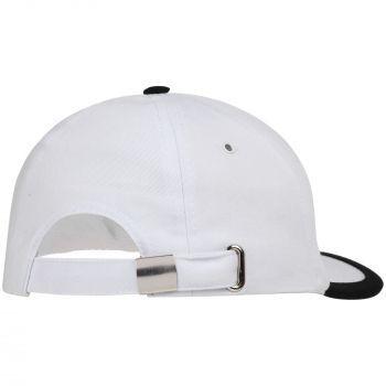 Бейсболка «Bizbolka Honor», белая с чёрным, вид сзади