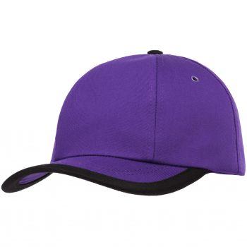 Бейсболка «Bizbolka Honor», фиолетовая с чёрным