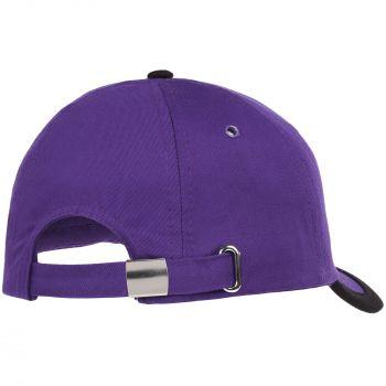 Бейсболка «Bizbolka Honor», фиолетовая с чёрным, вид сзади