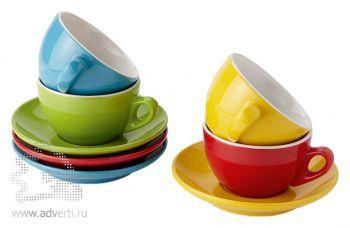 Набор для капучино «Florence», четыре чашки с блюдцами