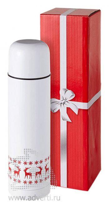 Термос «Лапландия» с подарочной коробкой