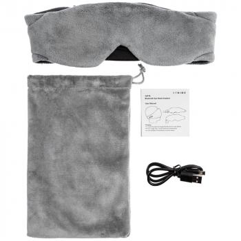 Маска для сна с наушниками Softa 2, серая