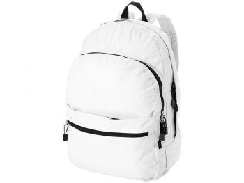 Рюкзак «Trend» с 2 отделениями на молнии и внешним карманом, белый
