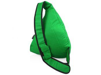 Рюкзак «Brooklyn» на одно плечо, зеленый, сзади