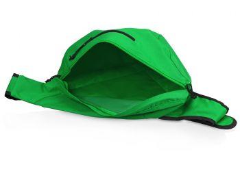Рюкзак «Brooklyn» на одно плечо, зеленый, открытый карман