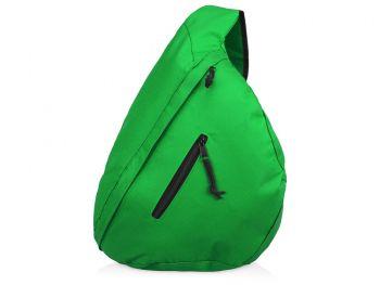 Рюкзак «Brooklyn» на одно плечо, зеленый, общий вид