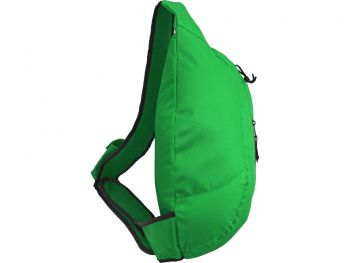 Рюкзак «Brooklyn» на одно плечо, зеленый, сбоку