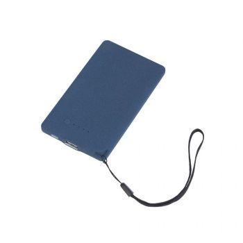 Зарядное устройство «Камень», с покрытием soft grip, в подарочной коробке, 4000 mAh, темно-синий