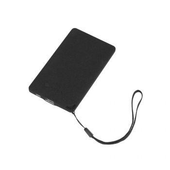 Зарядное устройство «Камень», с покрытием soft grip, в подарочной коробке, 4000 mAh, черный