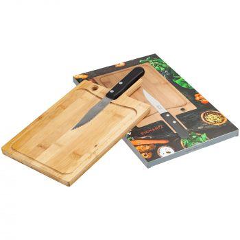 Разделочная доска и нож для стейка «Steak», с коробкой
