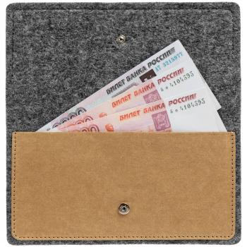 Папка для чека «Felting», с деньгами