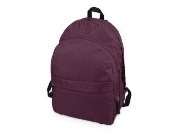 Рюкзак «Trend» с 2 отделениями на молнии и внешним карманом, пурпурный