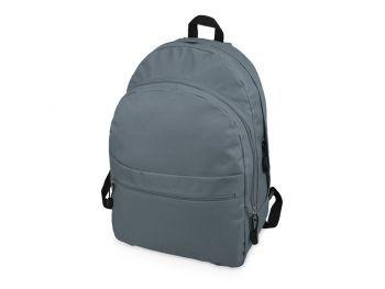 Рюкзак «Trend» с 2 отделениями на молнии и внешним карманом, серый