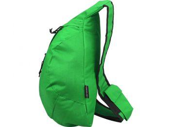 Рюкзак «Brooklyn» на одно плечо, зеленый, с другой стороны