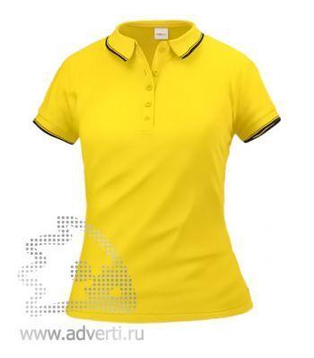 Рубашка поло «Stan Trophy W», женская, желтая с черным