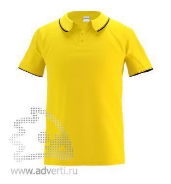 Рубашка поло «Stan Contrast», мужская, желтая