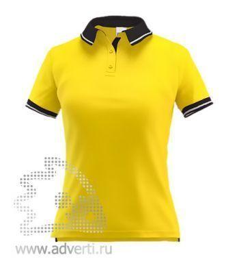 Рубашка поло «Stan Contrast W», женская, желтая с черным