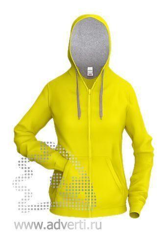 Толстовка «Stan Style W», женская, желтая с серым