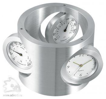 Часы с термометром и гигрометром «Трио», общий вид