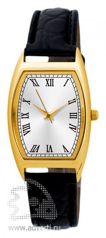 Часы наручные «Division», женские, золотой корпус и серебряный циферблат