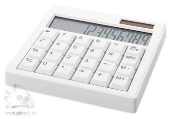Калькулятор 12-ти разрядный, белый
