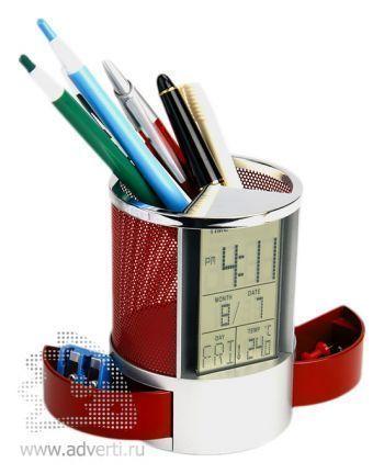 Подставка под ручки «Менеджер», красный