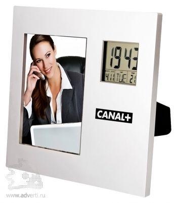 Рамка для фотографии 9х13 см с часами