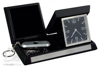 Часы дорожные «Линкольн» складные с отделением для мелочи