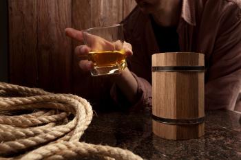 Бочонок-конструктор «Whiskey Barrel», в интерьере