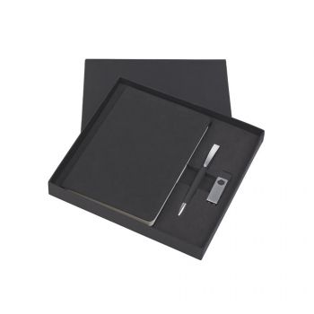 Подарочный набор «Комо», покрытие soft grip, черный, в коробке