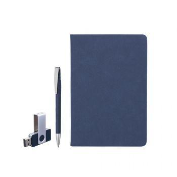 Подарочный набор «Комо», покрытие soft grip, синий