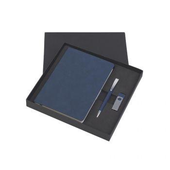 Подарочный набор «Комо», покрытие soft grip, синий, в коробке