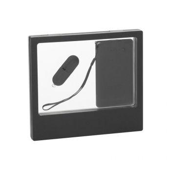 Подарочный набор «Камень», покрытие soft grip, в черном футляре, черный