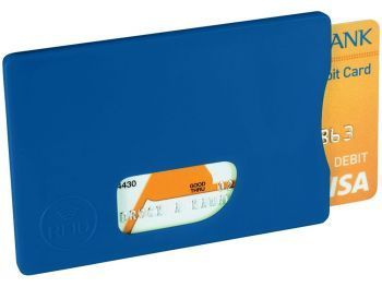 Защитный RFID чехол для кредитных карт, синий