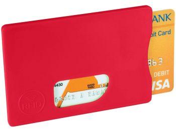 Защитный RFID чехол для кредитных карт, красный