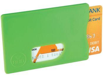 Защитный RFID чехол для кредитных карт, зеленый