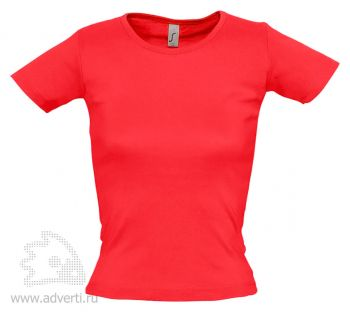 Футболка с круглым вырезом «Lady 220», женская, красная