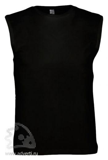 Футболка без рукавов «Jazzy 170», мужская, черная