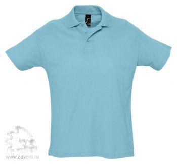 Рубашка поло «Summer 170», мужская, бирюзовая