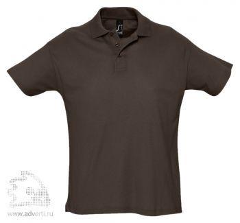 Рубашка поло «Summer 170», мужская, коричневая