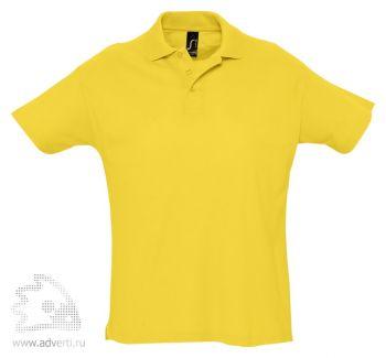 Рубашка поло «Summer 170», мужская, желтая