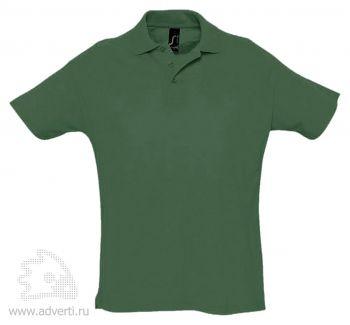 Рубашка поло «Summer 170», мужская, темно-зеленая