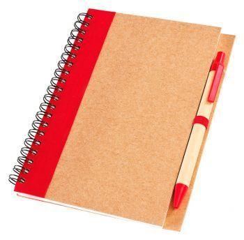 Блокнот с ручкой «Econot», красный