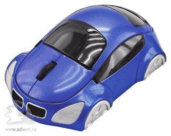 Оптическая компьютерная мышь «Автомобиль», синяя