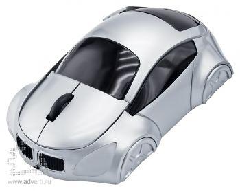 Оптическая компьютерная мышь «Автомобиль», серебристая